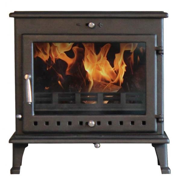 Ekol Crystal 12 woodburning stove 12kw white background