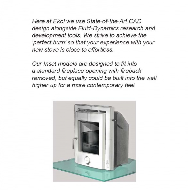 Ekol inset 5 woodburning stove description