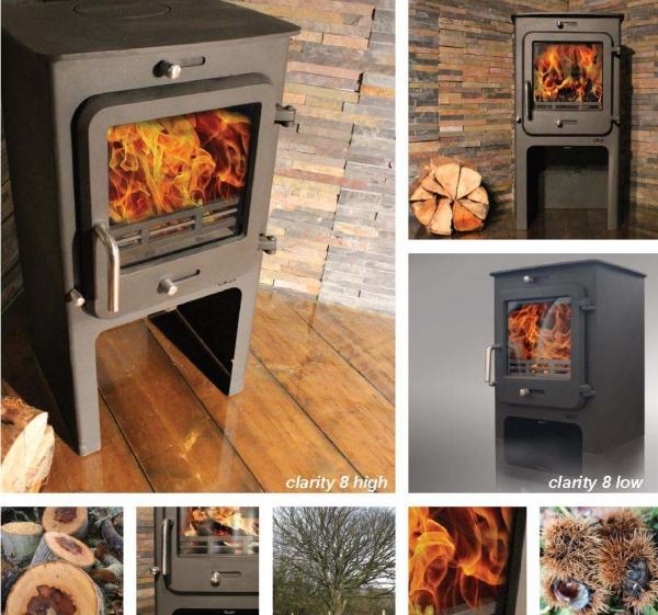 Ekol Clarity 8 Multi Fuel Woodburning Stove 1