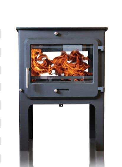Ekol Clarity double sided woodburning stove high leg options