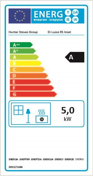 Di Lusso R5 Stove Wood burning inset stove energy specifications