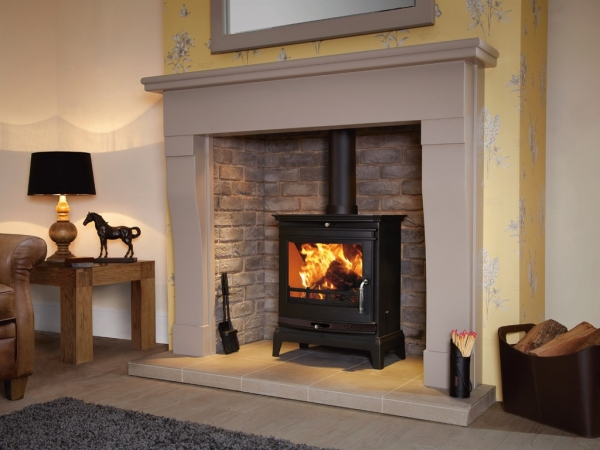 Flavel Rochester 7 multifuel stove black trim