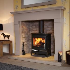 Flavel Rochester 7 multifuel stove silver trim