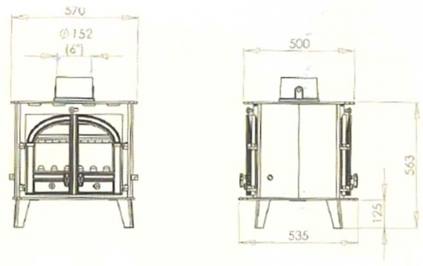 Parkray Consort 7 Double Sided Single Depth Stove 2