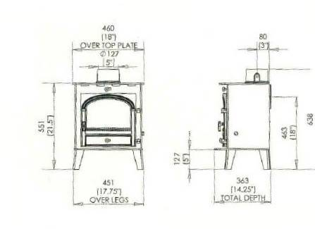 Parkray Consort 5 Compact Stove 3