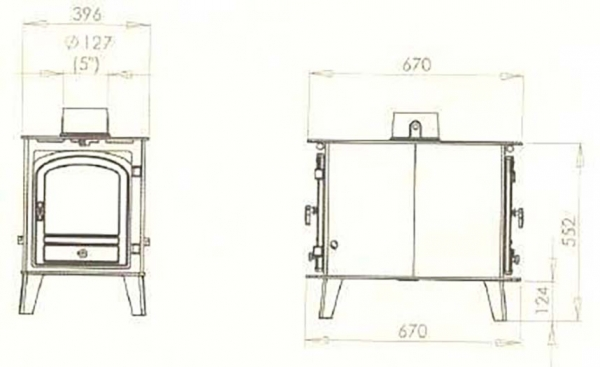 Parkray Consort 4 Double Sided Double Depth Stove 5