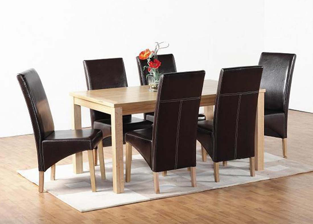 Belgravia Oak Dining Set Table And 6, Dining Room Chairs Uk