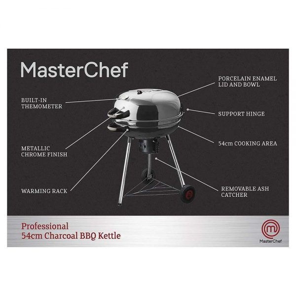 MasterChef Professional 54cm BBQ with Hinged Lid 2