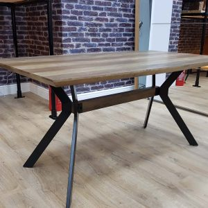 ModaNuvo Industrial 6 Seater Dining Table