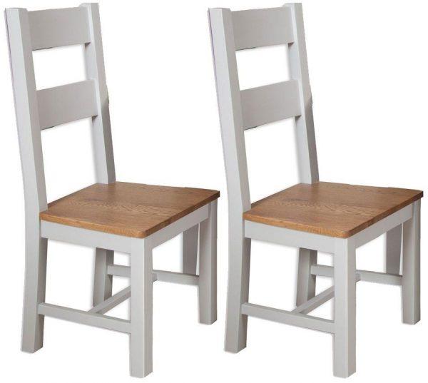 Oakwood Living Grey Painted Oak Dining Chair
