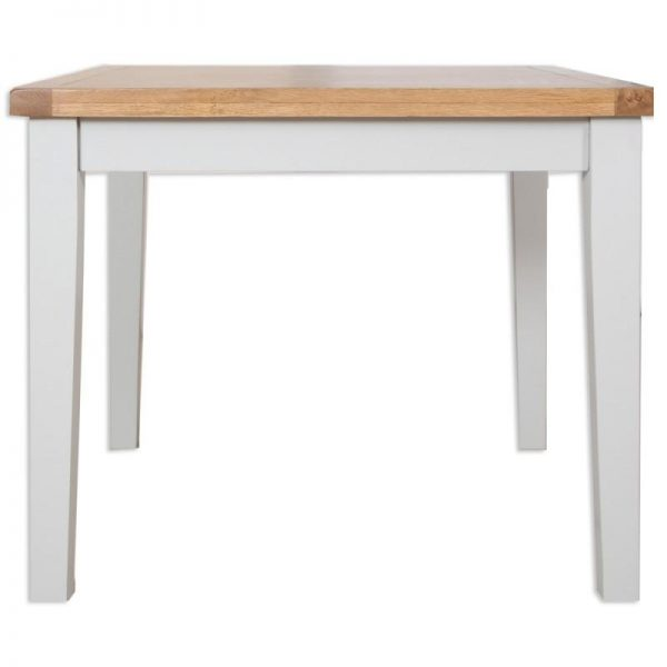 Oakwood Living Grey Painted Oak Dining Table 90