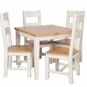 Oakwood Living Ivory Painted Oak Dining Table
