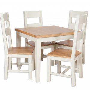 Oakwood Living Ivory Painted Oak Dining Table