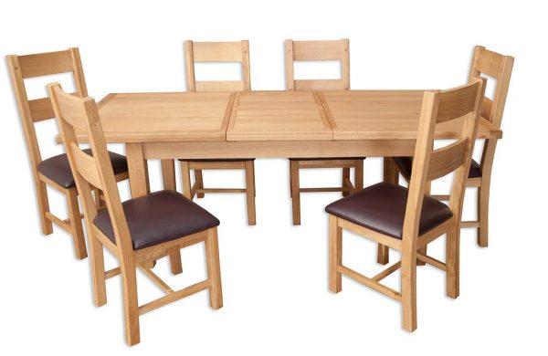 Oakwood Living Natural Oak 1.6 Extending Dining Table 160/210cm 4