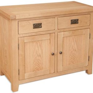 Oakwood Living Natural Oak 2 Door Sideboard 99 x 46 x 81 cm