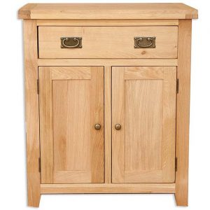 Oakwood Living Natural Oak Hall Cabinet 78 x 35 x 90 cm