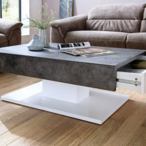 ModaNuvo Lania Modern Coffee Table White Grey