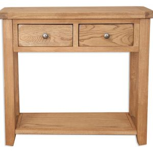 Oakwood Living Country Oak 2 Draw Console Table