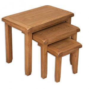 Oakwood Living Country Oak Nest Of Tables