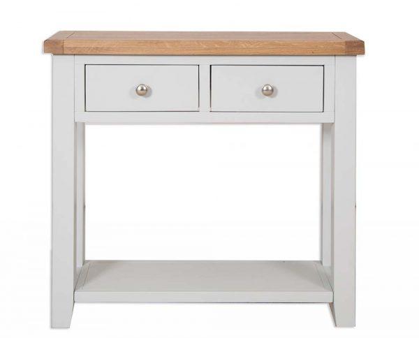 Oakwood Living Grey Painted Oak 2 Draw Console Table