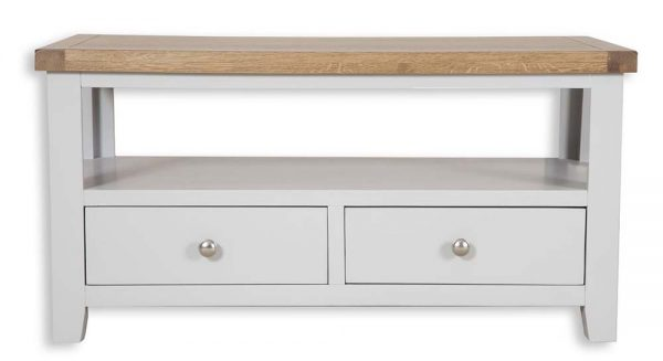 Oakwood Living Grey Painted Oak Coffee TV Table