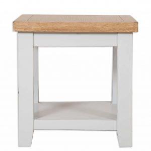 Oakwood Living Grey Painted Oak Lamp Table