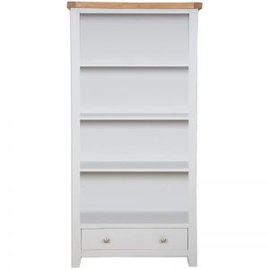 Oakwood Living Grey Painted Oak Large Bookcase