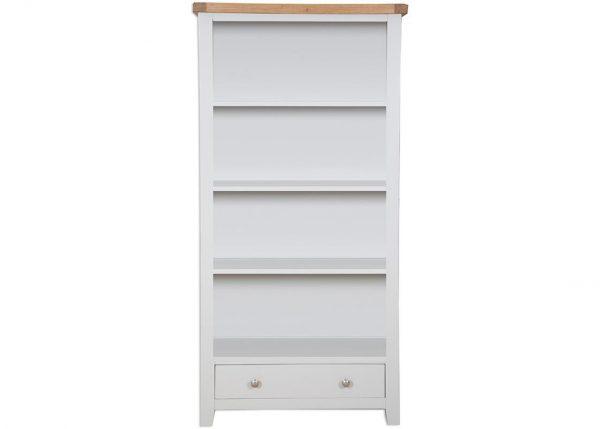 Oakwood Living Grey Painted Oak Large Bookcase