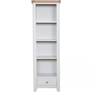 Oakwood Living Grey Painted Oak Slim Bookcase