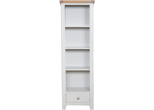 Oakwood Living Grey Painted Oak Slim Bookcase