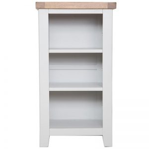 Oakwood Living Grey Painted Oak Small BookcaseDVD Rack