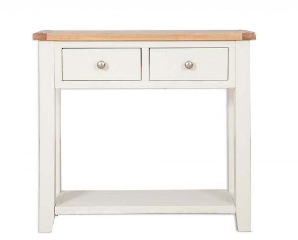 Oakwood Living Ivory Painted Oak 2 Draw Console Table