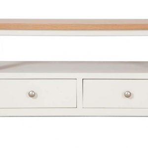 Oakwood Living Ivory Painted Oak Coffee TV Table