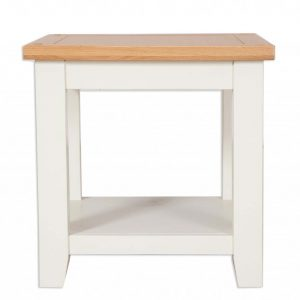 Oakwood Living Ivory Painted Oak Lamp Table