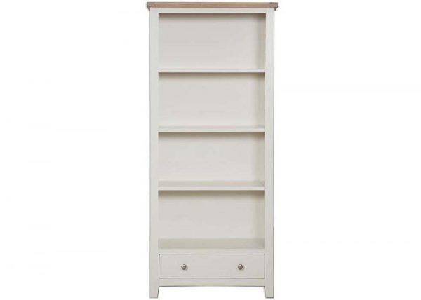 Oakwood Living Ivory Painted Oak Large Bookcase