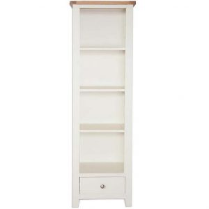 Oakwood Living Ivory Painted Oak Slim Bookcase