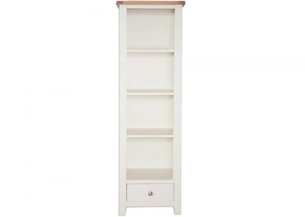 Oakwood Living Ivory Painted Oak Slim Bookcase