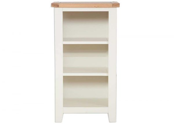 Oakwood Living Ivory Painted Oak Small Bookcase:DVD Rack