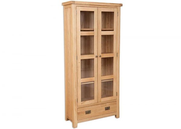 Oakwood Living Natural Oak Glazed Display Cabinet