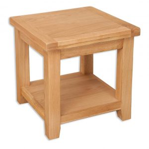 Oakwood Living Natural Oak Lamp Table