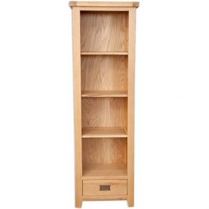 Oakwood Living Natural Oak Slim Bookcase