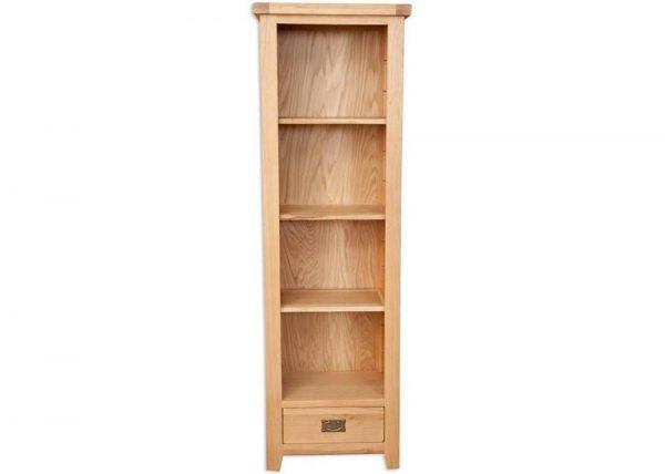 Oakwood Living Natural Oak Slim Bookcase
