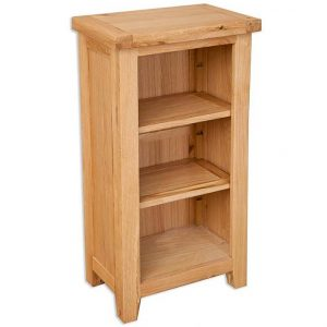 Oakwood Living Natural Oak Small Bookcase DVD Rack