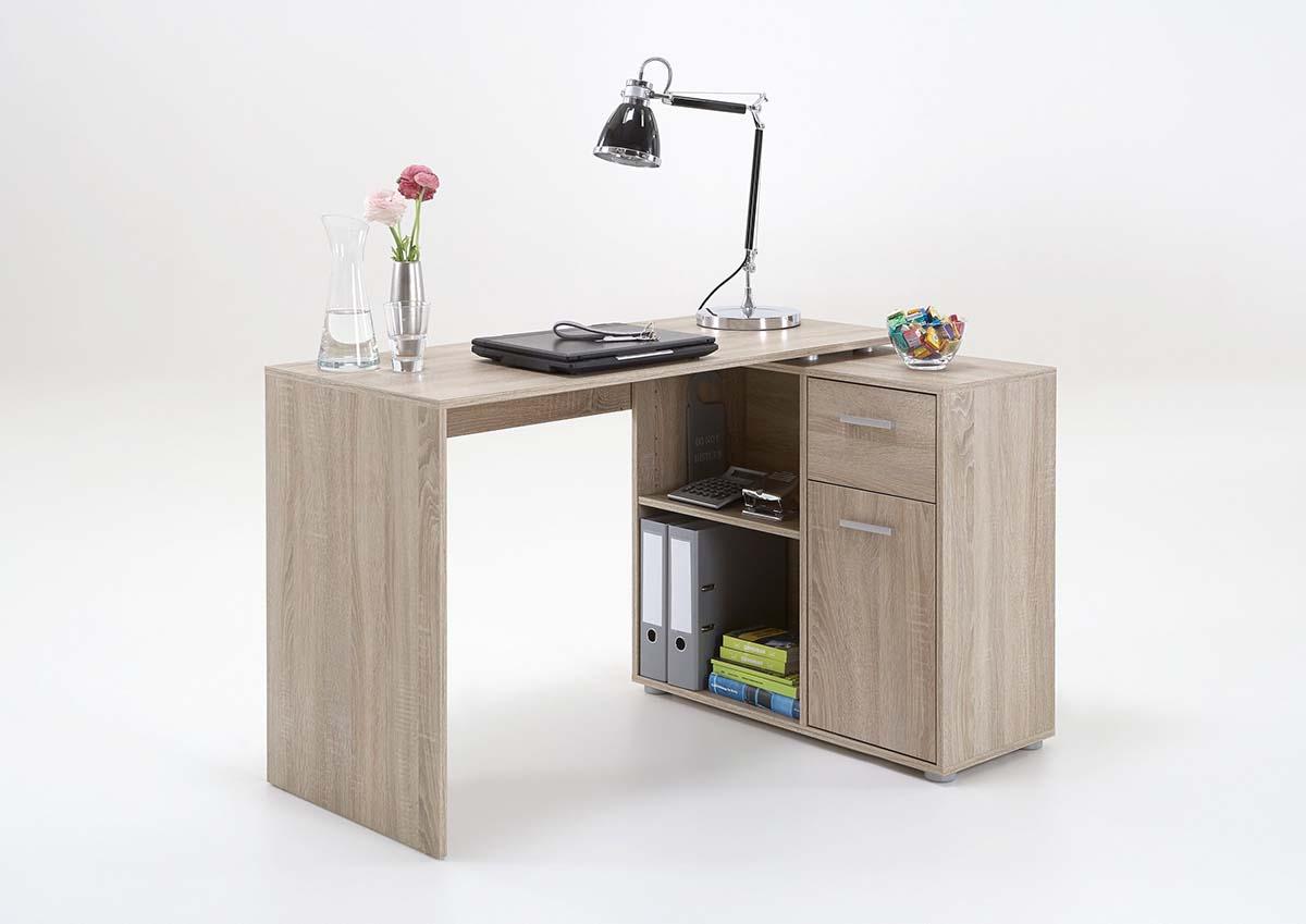Slumberhaus Lixor Midi Home Office Computer Desk Workstation In Oak Lodge Furniture Uk