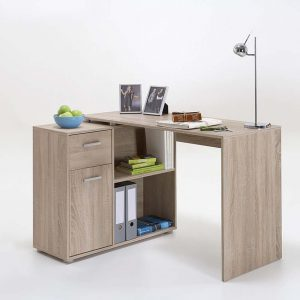 SlumberHaus Lixor Midi Home Office Computer Desk Workstation in Oak