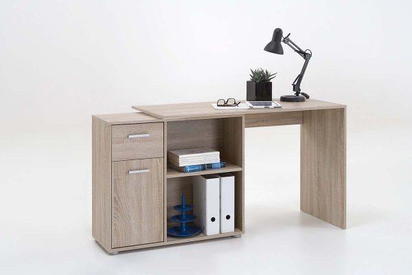 SlumberHaus Lixor Midi Home Office Computer Desk Workstation in Oak 2