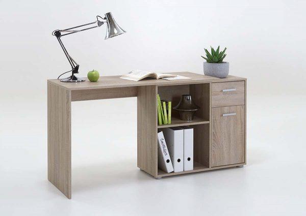 SlumberHaus Lixor Midi Home Office Computer Desk Workstation in Oak 3
