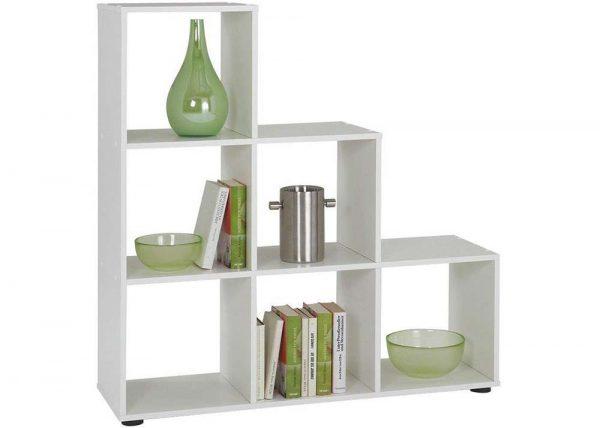 SlumberHaus Mega 1 White Modern Bookcase